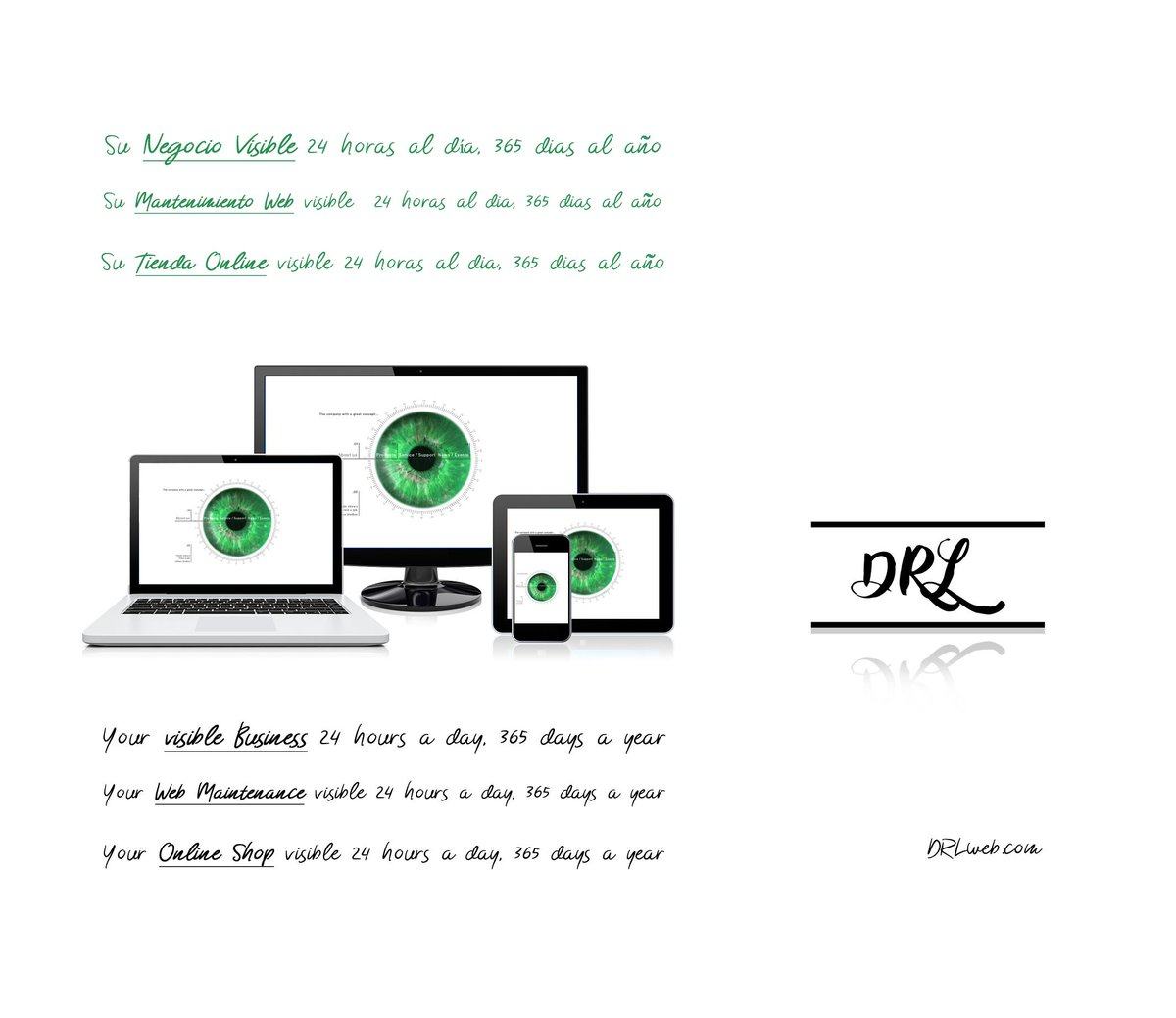 Su Negocio visible 24 horas al día, 365 días al año Su Mantenimiento Web visible  24 horas al día, 365 días al año Su Tienda Online visible 24 horas al dia, 365 días al año -  http://DRLweb.com  #Negociovisible #MantenimientoWeb #TiendaOnline #visibleBusiness