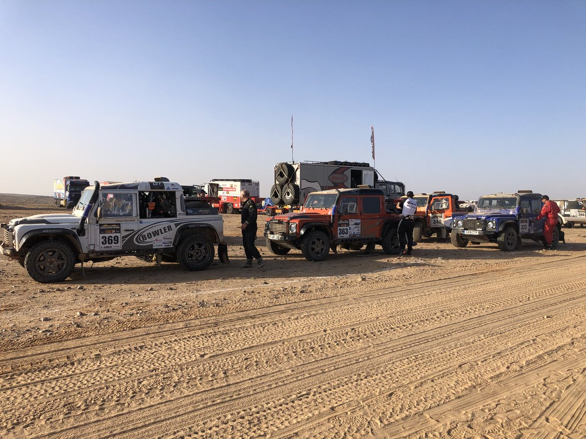 All four cars set off for Stage 3 this morning. 375km from Smara to Assa. #MDC2019 #BowlerMotorsport<br>http://pic.twitter.com/MjOT1s0N5E