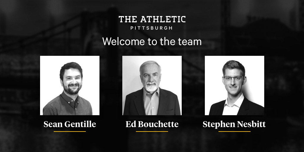 📢  We're excited to announce the addition of 3 talented journalists to @TheAthleticPGH team! 👉 @EdBouchette on Steelers 👉 @seangentille on all PGH teams 👉 @stephenjnesbitt with feature stories  http://theathletic.com/pittsburgh