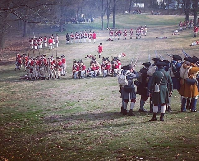 """"""" We followed the sound of the Muskets Down the road, until we came to a great opening where we met the regulars they were in a great scurry to reform their battle lines. We began our fire upon them with little to no effect and then we broke ranks to ran… https://t.co/mRgnisfk1V"""