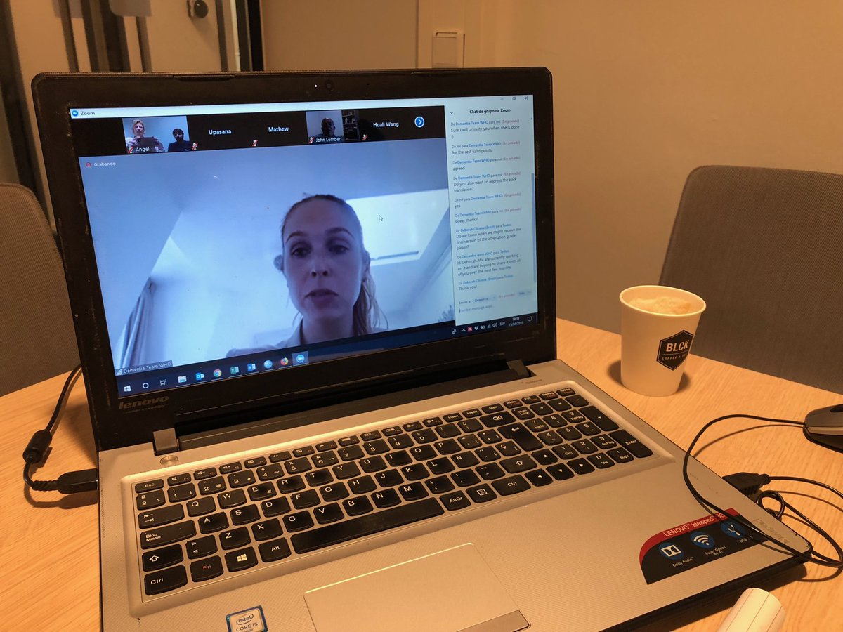 Webinar @WHO on training program #iSupport for #caregivers of people with #dementia, chaired by @StefFreel, incl. 25 people from 13 countries from all regions @KSeeher @carersresearch @acpintobr @alzheimernl @AlzDisInt