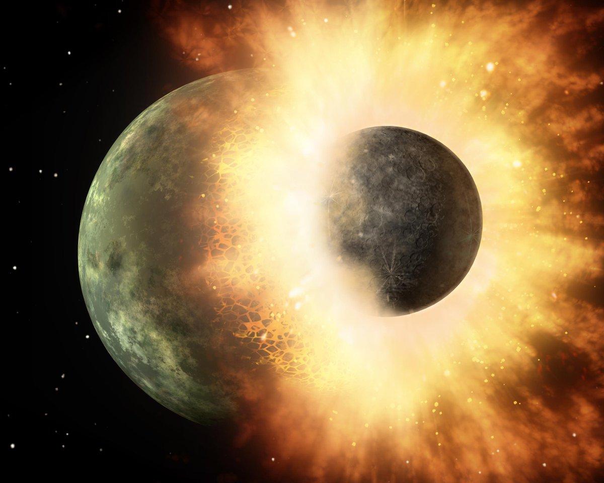 We dachten altijd dat de maan is ontstaan door een botsing tussen de aarde en een andere planeet. Dit klopt niet volgens de nieuwste onderzoeken. Wim van Westrenen (@VUamsterdam) vertelt je op 1 mei dat het tijd is voor een nieuwe theorie! https://universiteitvannederland.nl/upcoming-college/de-maan…