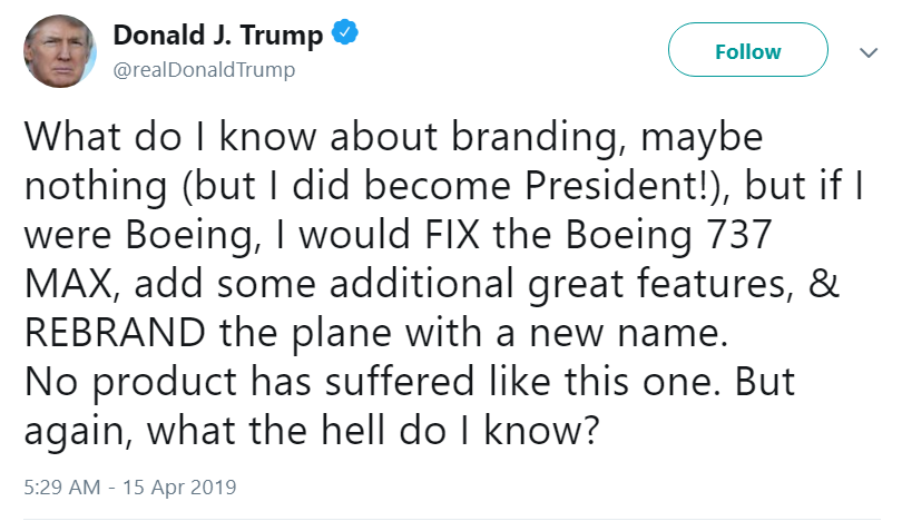 "In 1989 Trump bought and rebranded a regional airline ""Trump Shuttle.""  In 18 months, Trump Airlines lost over $125 million, and by 1992, Trump bailed.  Typical winning from the Crook in Chief.  Read the Daily Beast article -->  http:// bit.ly/2Ggftaj       #TrumpAirlines #VoteBlue<br>http://pic.twitter.com/R1zhNfUi5p"
