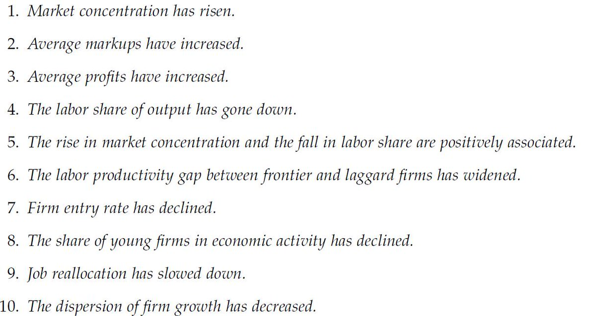 """""""Ten Facts on Declining Business Dynamism"""" Our new @nberpubs paper (joint w/ Sina Ates) lists a set of important empirical trends in the U.S. economy: https://www.nber.org/papers/w25755?utm_campaign=ntwh&utm_medium=email&utm_source=ntwg28… (if access is blocked ->  http://www.ufukakcigit.com/research-1)"""