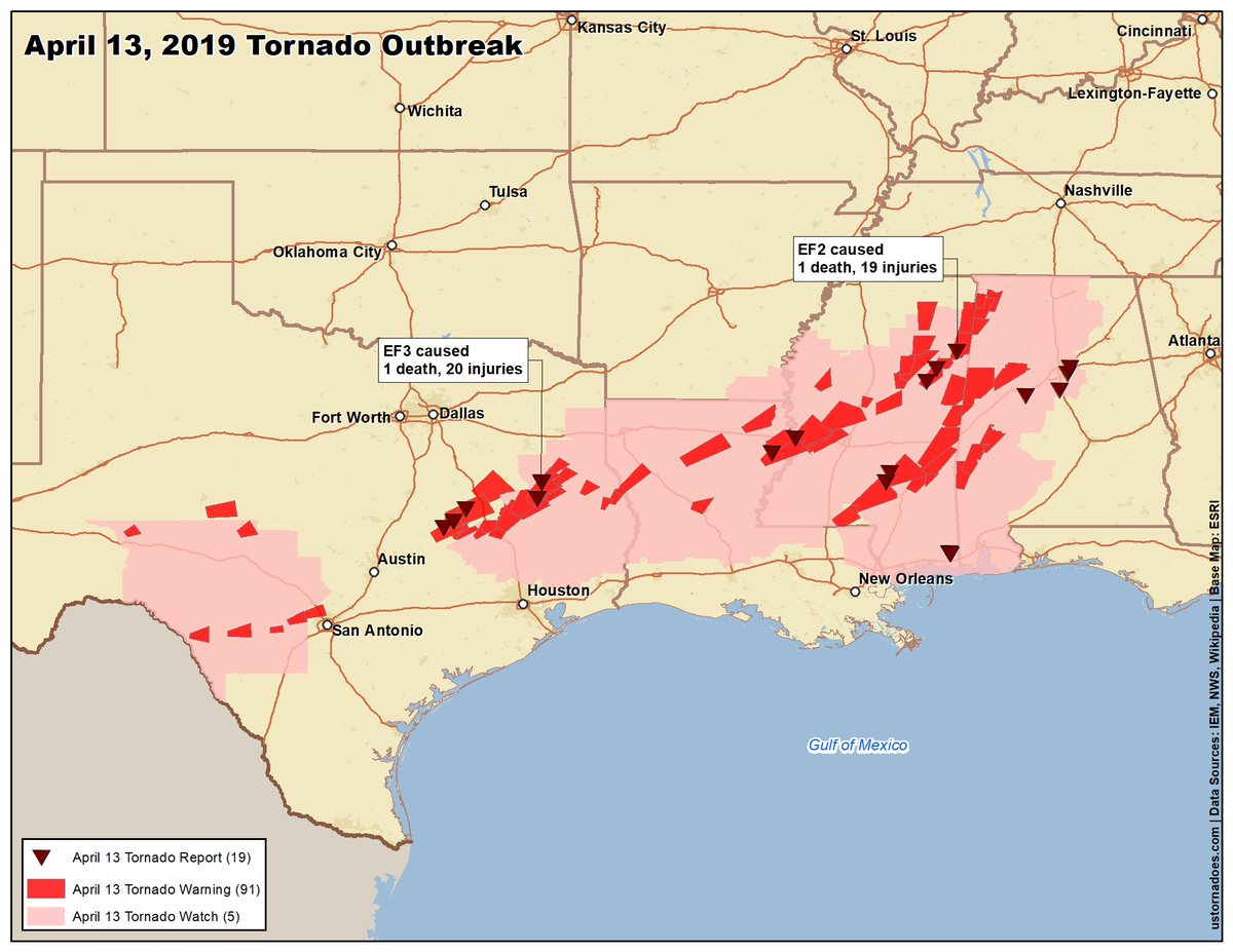Us Tornadoes On Twitter Preliminary Map Of Saturdays 413 - Tornado-us-map