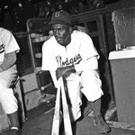 72 years ago today, Jackie Robinson breaks the MLB color barrier when he steps on Ebbets Field for the Brooklyn Dodgers ✊