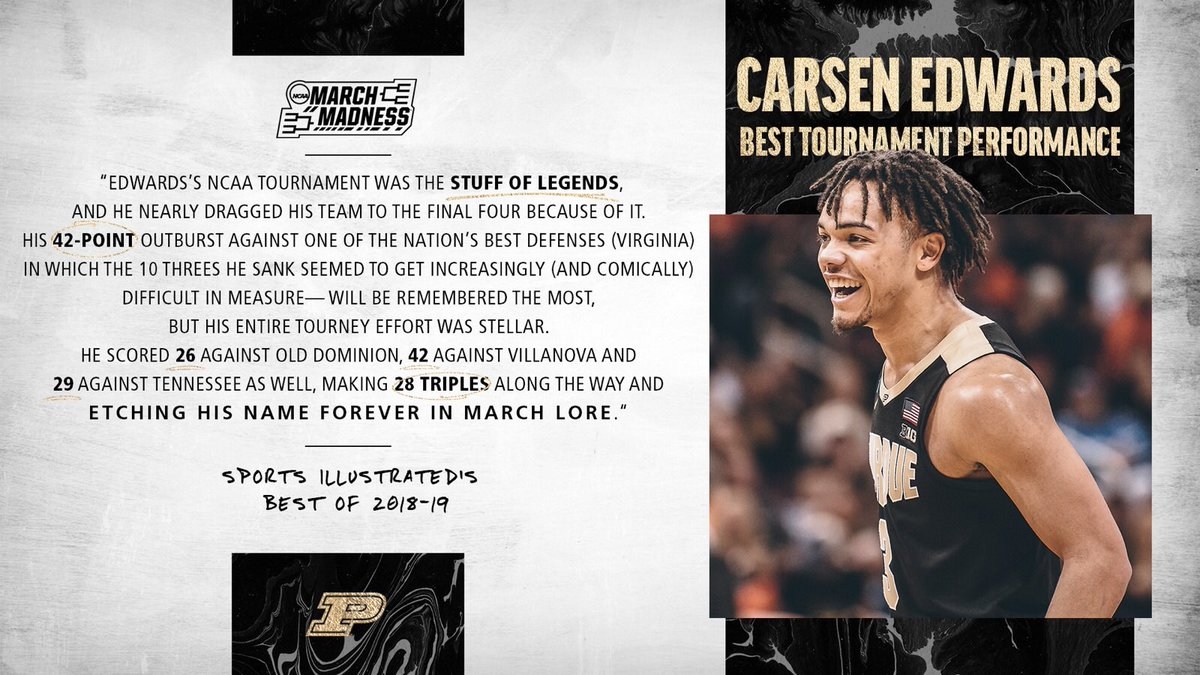 Forever etched in March lore.   #Purdue / #BoilerUp 🚂