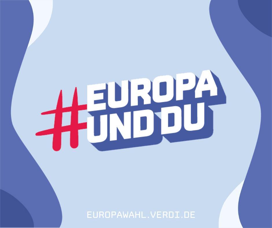 🇪🇺 #Europa betrifft dich mehr als du denkst. Besser du entscheidest mit. 🗳️ Wir verraten dir, welche Entschiedungen anstehen und wie sie dein (Arbeits-)Leben beeinflussen werden: http://europawahl.verdi.de #EuropaUndDu #Europawahl