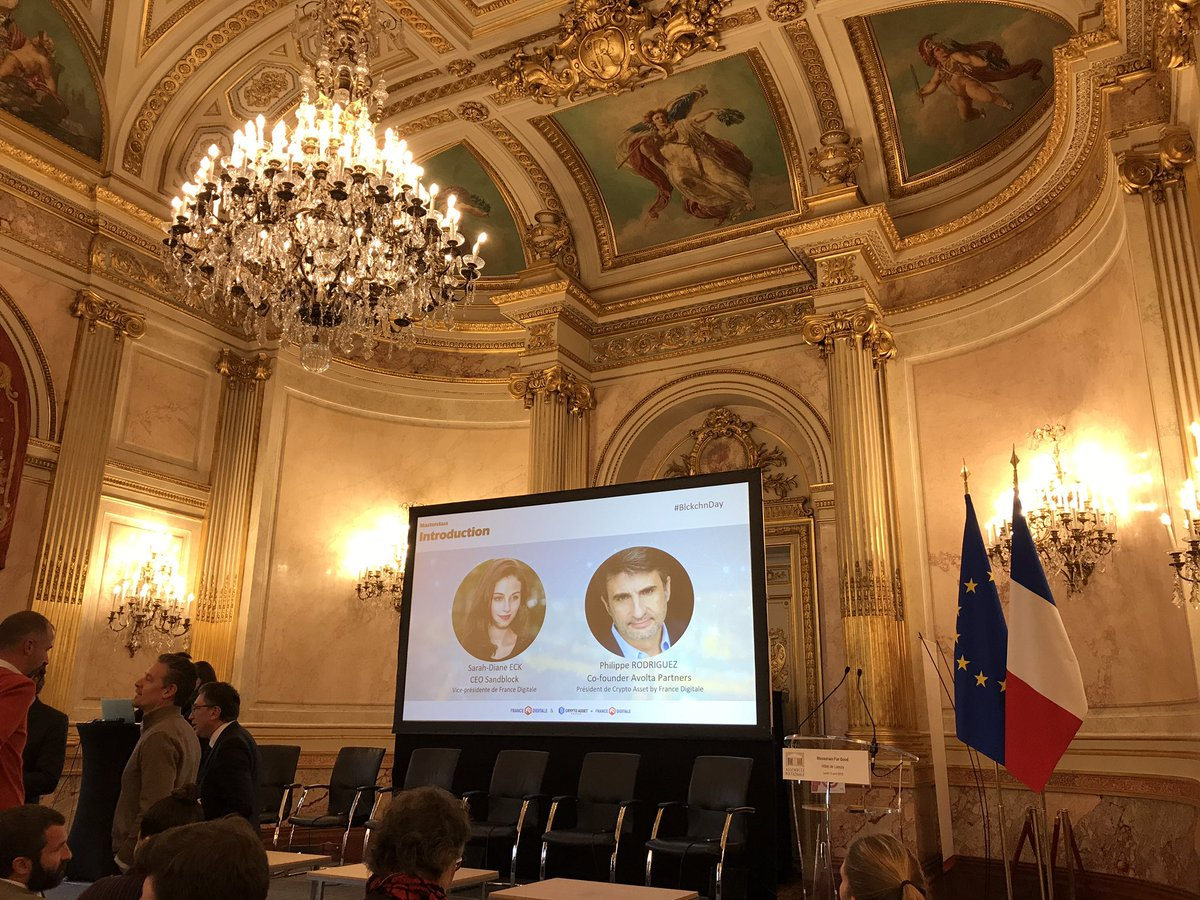 At the #BlckchnDay organised by @FranceDigitale to find synergies for @AGEify_app in the #AssembleNationale. Magnificent building<br>http://pic.twitter.com/7W5dZttt2S