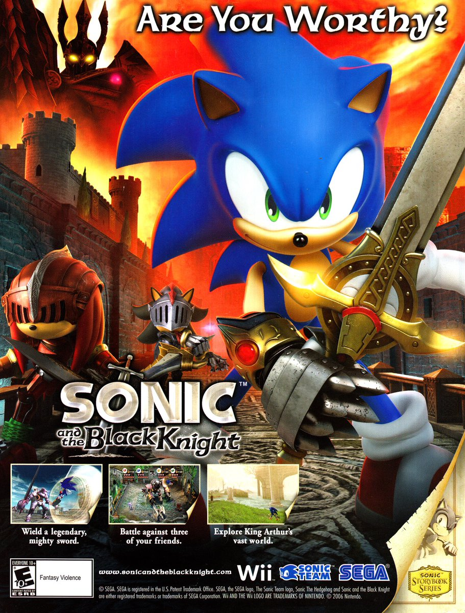 Videogameart Tidbits On Twitter Sonic And The Black Knight Nintendo Wii Ad