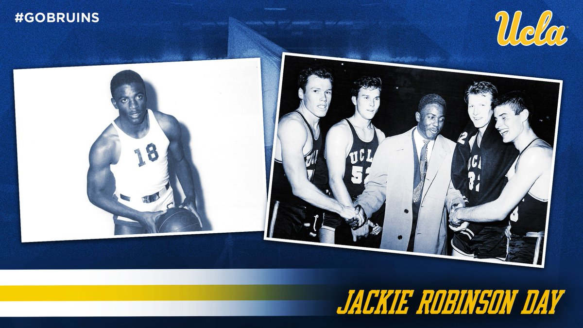 We join @MLB on #JackieRobinsonDay as we reflect on the legacy & accomplishments of Jackie Robinson, who played on UCLA's basketball team for two seasons.  #Jackie42 | #GoBruins