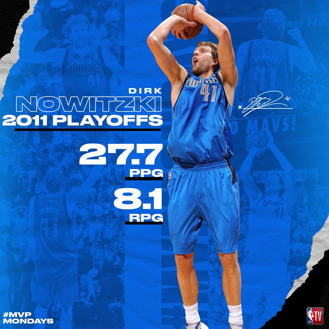 Take a look at Dirk Nowitzki's numbers from his incredible 2011 #NBAPlayoffs run!  #MVPMondays