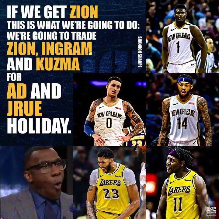 Then I would officially be a New Orleans Pelican fan. If you get Zion you do not trade him!!!! God damn it!!!!!