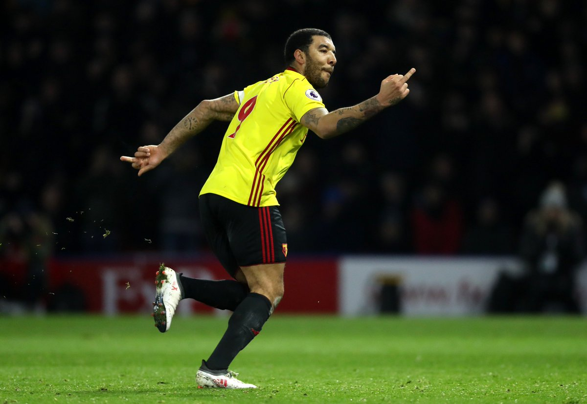 Troy Deeney in 2017: Whenever I play Arsenal, Ill go up and think, Let me whack the first one and see who wants it. A man of his word.