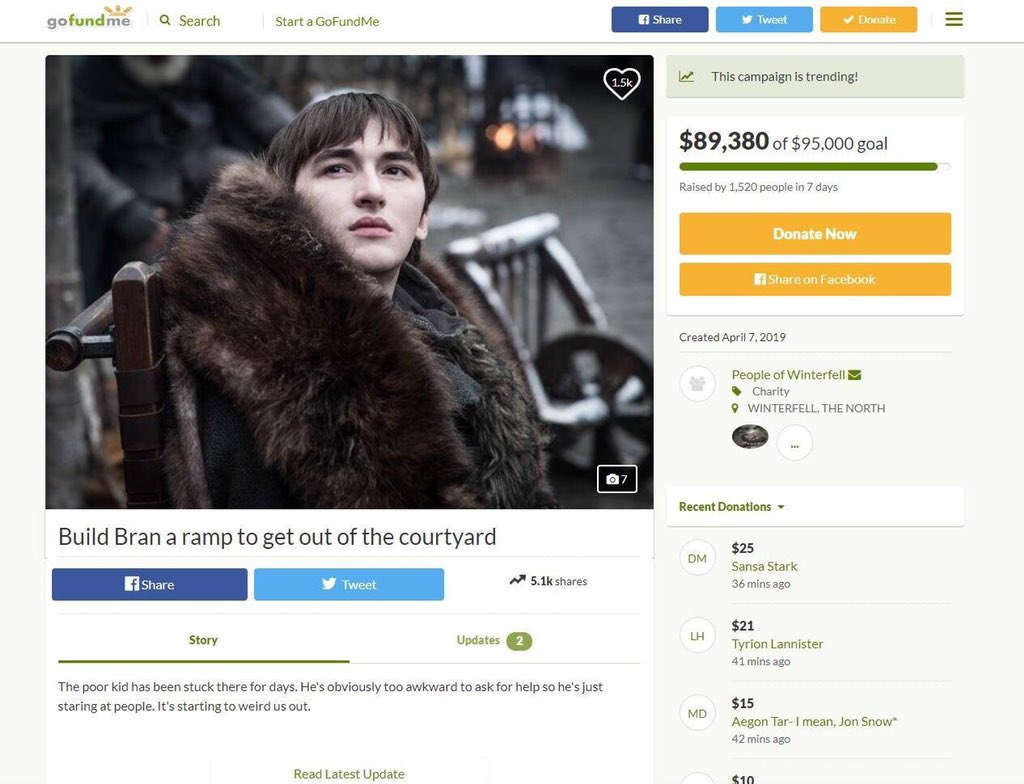 A cause we can all get behind #GameofThrones