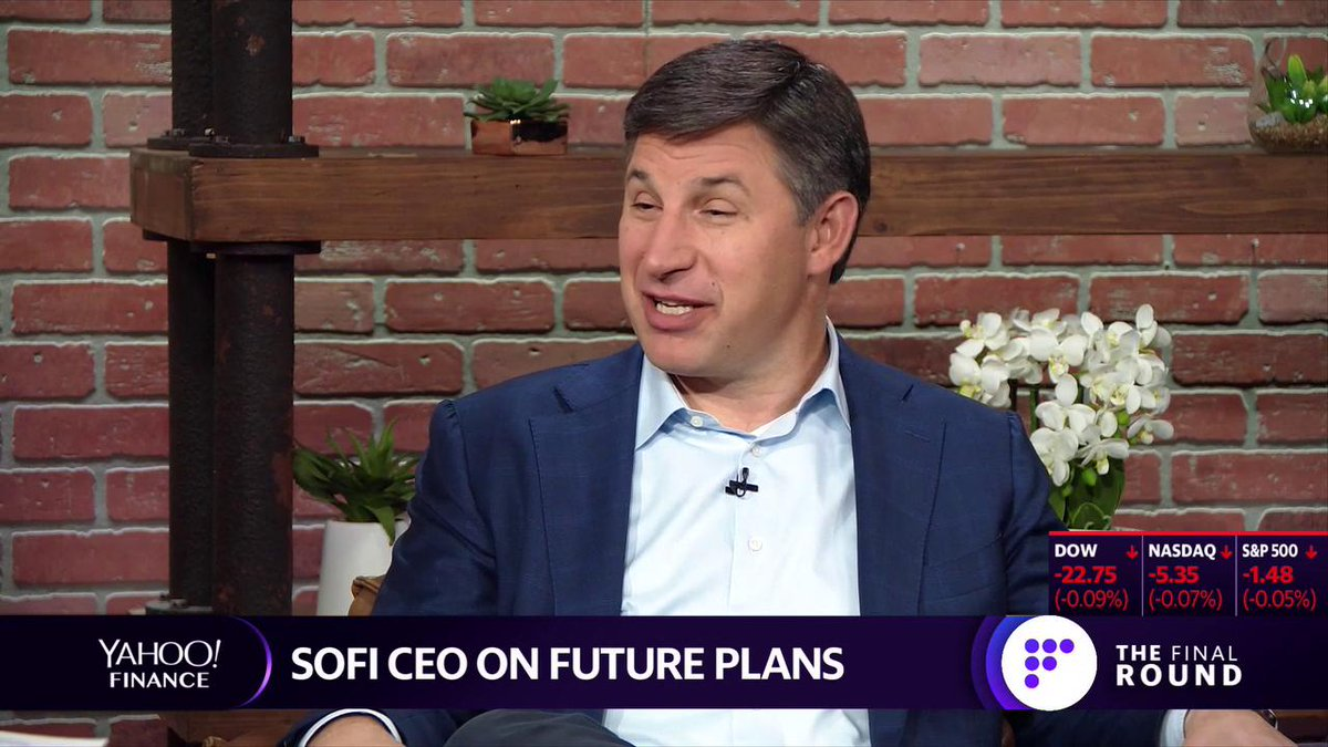 "Highlight: ""We're in the hundreds of millions of dollars of revenue and we're growing revenue quite meaningfully,"" @SoFi CEO @anthonynoto says about his company. ""We're investing the businesses to maximize growth at this point, not focused on profitability."" More:"