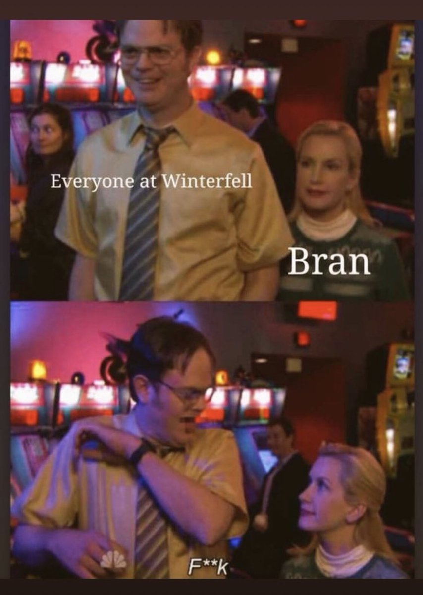 I don't know who made this but thank you... 😂 #TheOffice #gameofthrones