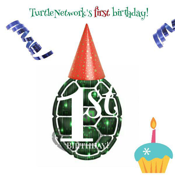 For Turtlenodes 1st birthday we have some exciting announcements!  - New Website: https://www.turtlenetwork.eu - Updated WhitePaper: v2.1 - New Wallet location: https://client.turtlenetwork.eu - New Statistics location: http://statistics.turtlenetwork.eu