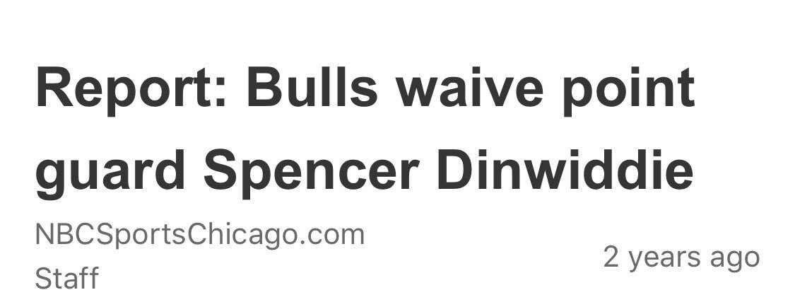 Remember when the Chicago Bulls CUT Spencer Dinwiddie...