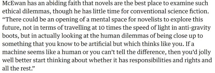 Congrats to Ian McEwan, who just invented the entirety of Philip K. Dick's oeuvre 60 years after Dick did. <br>http://pic.twitter.com/elzACZdtCw