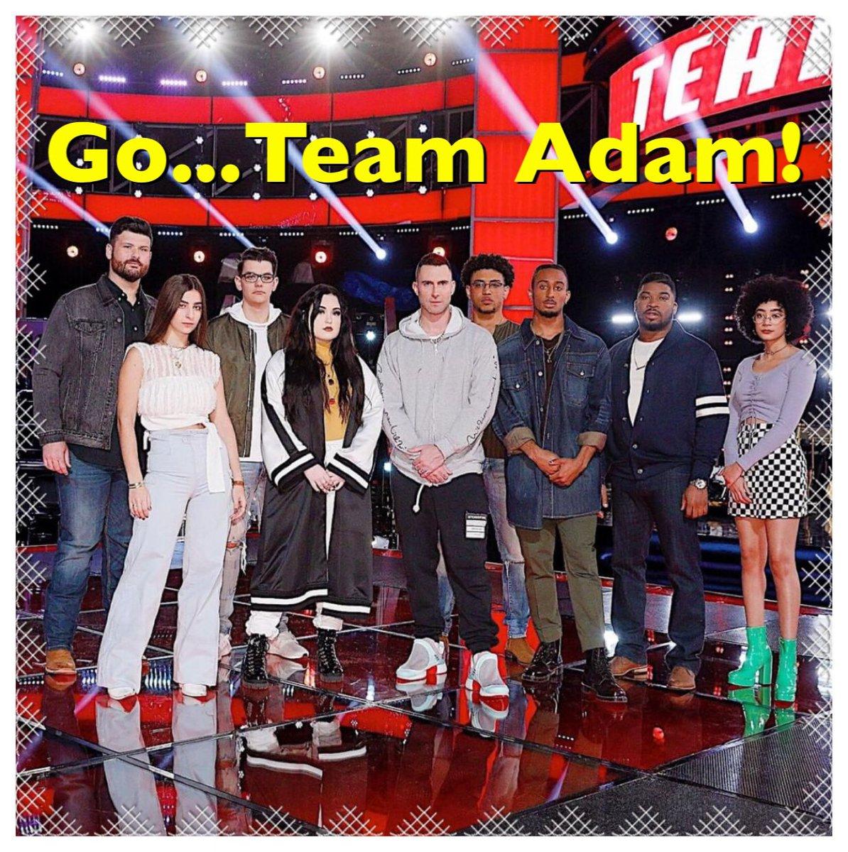 Good luck tonight #TeamAdam!  Looking forward to tonight's live episode of @NBCTheVoice @adamlevine <br>http://pic.twitter.com/L47SvJa5mQ