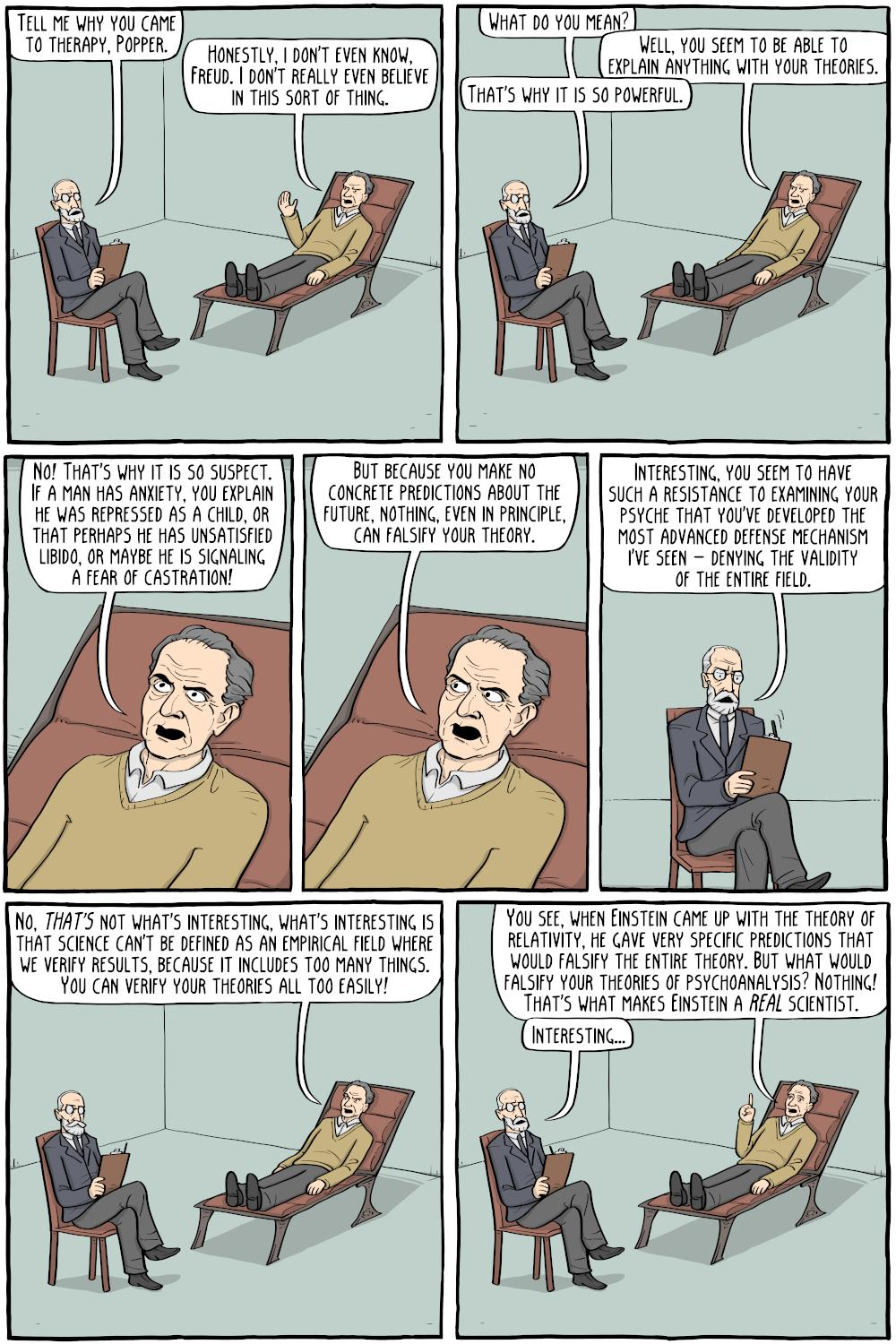 "Existential Comics on Twitter: ""Freud and Popper - https://t.co/lPVjEMPmJ3…  """