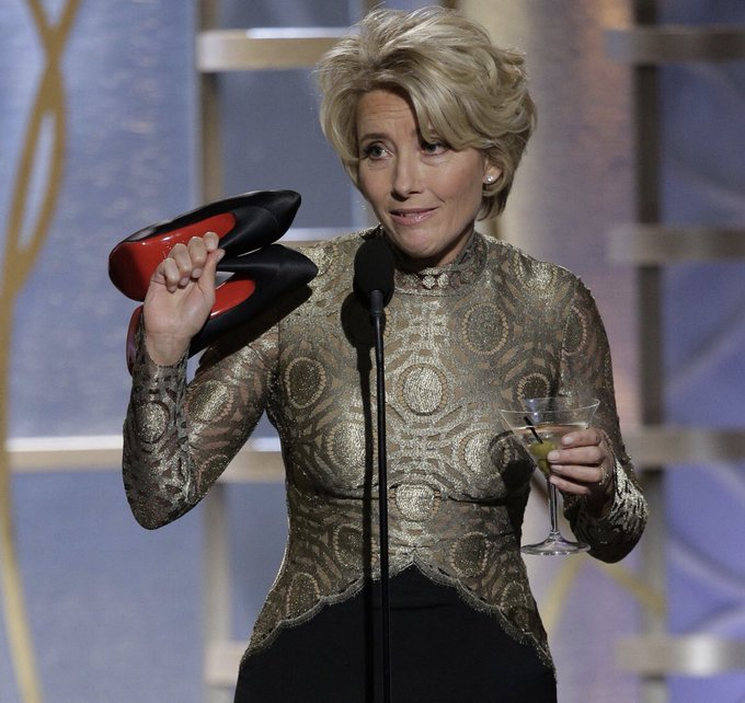 Happy Birthday to the peerless (and shoeless) Dame Emma Thompson.