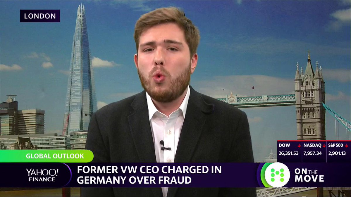 "Highlight: Volkswagen's former CEO has been charged in Germany over fraud. But ""VW still maintains that nobody at this level was involved,"" says @OscarWGrut. Also talks about a UK proposal that's hoping to ban specific functions on social media for those under 18. Full interview:"