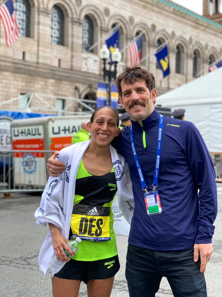 Incredible 5th place performance for @des_linden today at the #BostonMarathon!