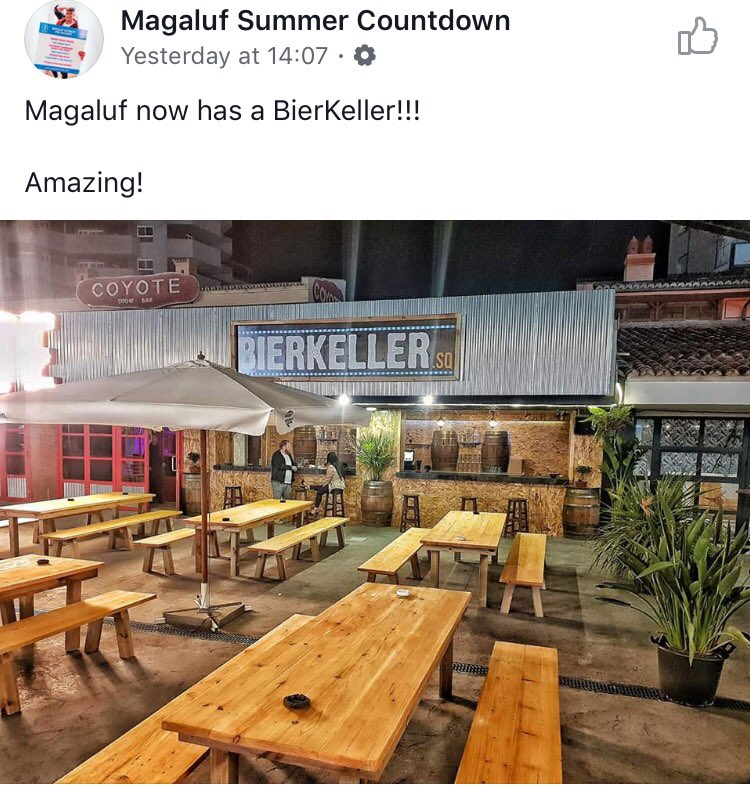 What's tackier than an imitation beerkeller? An imitation beerkeller in Magaluf! @JoshCoupe_
