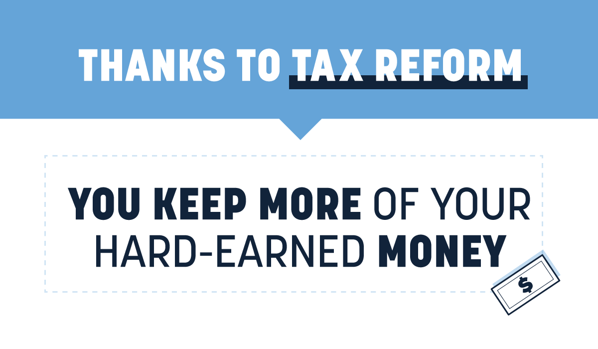 Today marks the first #TaxDay where #YouKeepMore. Thanks to #GOPTaxCuts, Americans will file under a fairer, simpler tax code. Families, small business, and single moms across the nation will enjoy bigger paychecks, new bonuses, and more job opportunities. <br>http://pic.twitter.com/uPJSN6WXYl