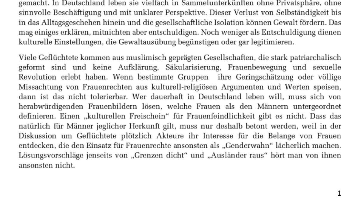 Die grüne MdB @ekindeligoez benennt die Problematik des kulturellen Hintergrundes von Integrationsproblemen. Noch vor nicht langer Zeit habe ich mir für solche Thesen massive Rassismusvorwürfe eingehandelt. Kultur ist aber eben nicht genetisch! Kultur ist deine Wahl! https://t.co/efPiNpHfCP