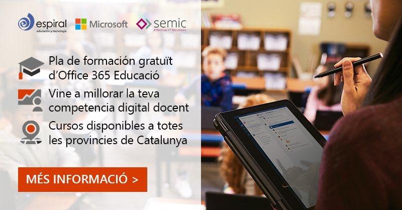 En menos de 10 días empieza nuestro plan de formación gratuito en TODAS las provincias de Cataluña. Quedan pocas plazas, pero aún estás a tiempo. ¿Te animas? 😏 APÚNTATE EN https://ciberespiral.org/ca/blogs-3/formacion-y-eventos/530-curs-basic-d-office-365-ofereix-als-teus-alumnes-un-aprenentatge-sense-limits… #MicrosoftEDU – at Cataluña