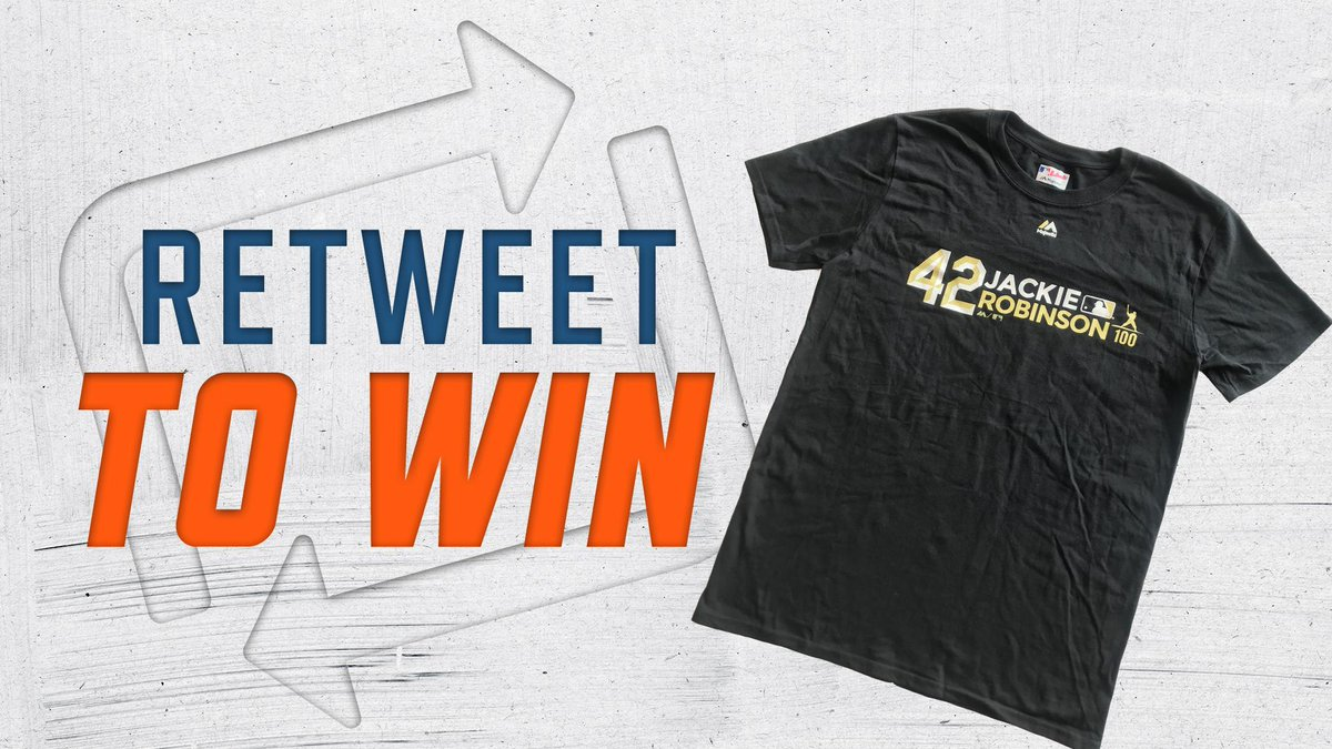 RT for your chance to win a Jackie Robinson t-shirt! #Jackie42  Rules:  https:// atmlb.com/2ZdeLDC  &nbsp;  <br>http://pic.twitter.com/Jfv1EdP8dD
