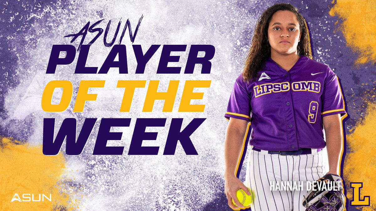 Another Player of the Week in the books for @hannah_devault9!  #beLieve #HornsUp #LUBS
