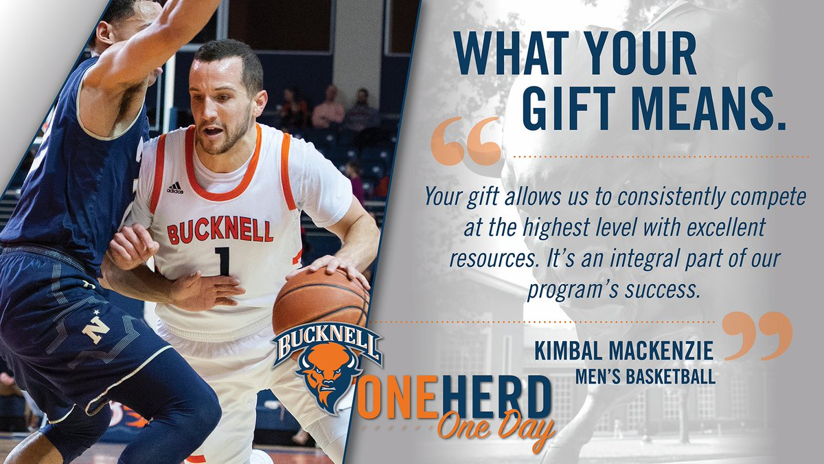 Help us continue to compete at a championship level. Join us tomorrow for #OneHerdOneDay.   Info: http://bucknell.edu/OneHerdOneDay