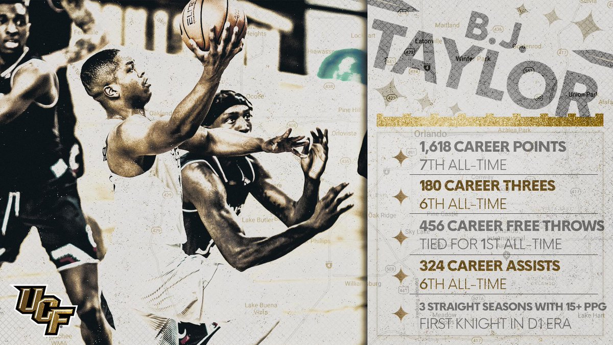 He has left his name scattered throughout our record book.  What a career for @BJTaylor_1! 🙌  #BuiltByUCF