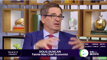 "Highlight: @FannieMae's Doug Duncan on housing: ""There is no question that house prices in supply-constrained markets will show the effects of strong demand, [but] in some of those markets that have been very hot … the top tier of house prices has actually slowed or … fallen."""