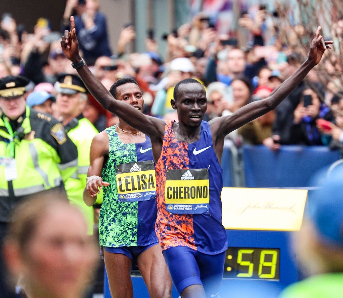Congratulations to the @BostonMarathon winners in every category. Your victory inspires us all.