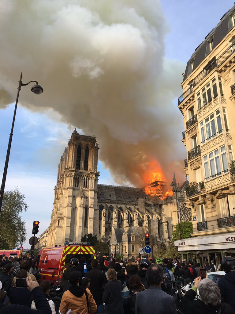 #NotreDame is on fire