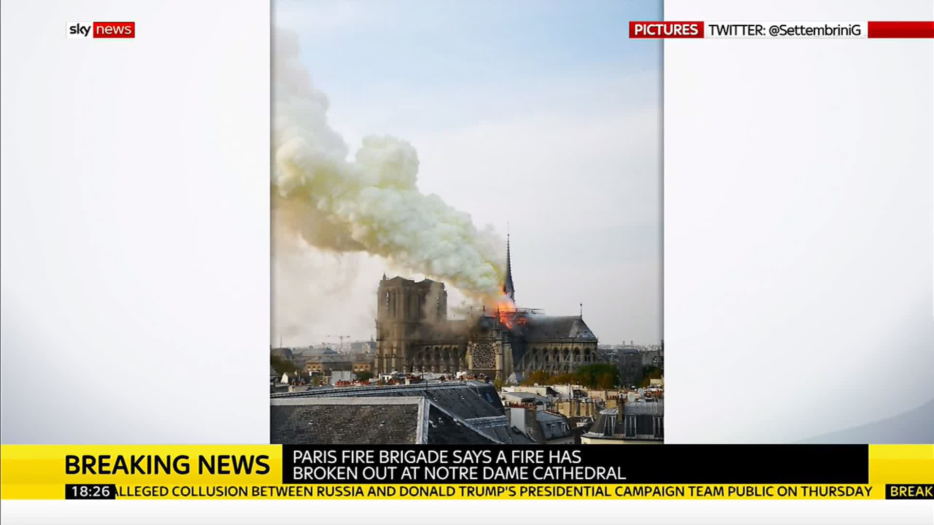 Another angle of the #Notredamefire by @skynews  The Art, the history, the heartbreaking loss.    https://t.co/VCIV7wr417