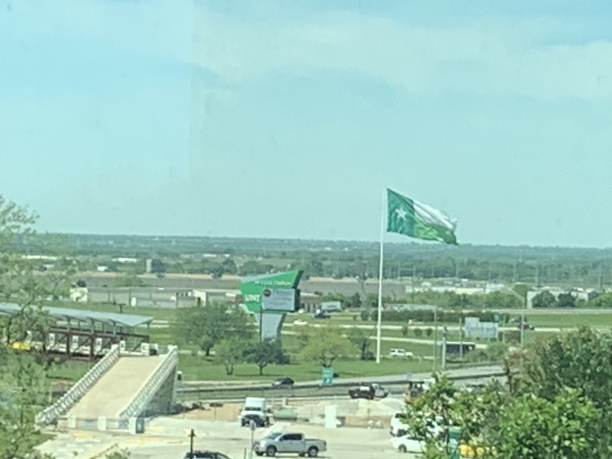 Man, this view from UNT Gateway Center (where I'm officed) just never gets old. I do love this university. 💚 #UNT #GMG @UNTAdvancement @UNTAlumniAssoc