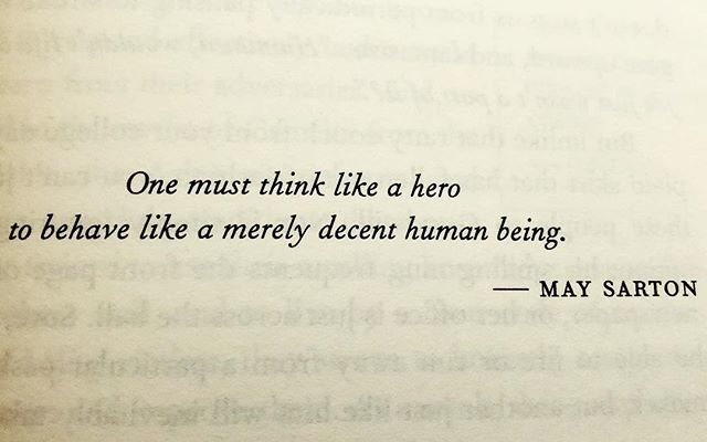 "test Twitter Media - ""One must think like a hero to behave like a merely decent human being."" - May Sarton #MaySarton #Quote #quotation #hero #human https://t.co/ryac8pbGcg https://t.co/vzBVZKUfm6"