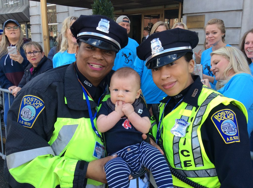 #MarathonMonday: The men and women of the #BPD are working hard to keep everybody safe - especially the kids - at the 123rd running of the @bostonmarathon. If you see anything suspicious or need help, our officers are out in full force.<br>http://pic.twitter.com/ioGSb596F9
