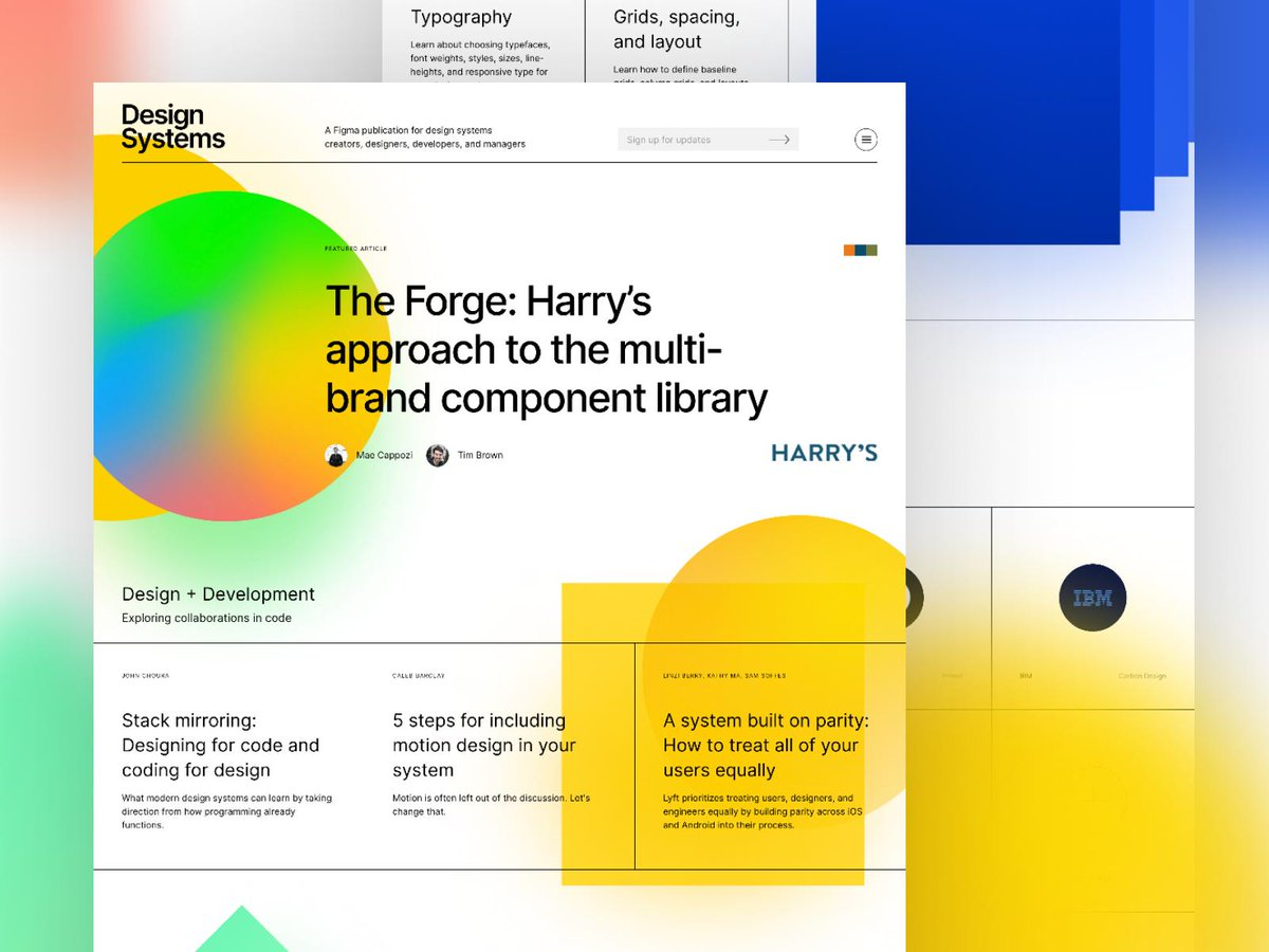 🔴🔵💚💛 This is a big one. Design Systems 2.0 Proud of the effort by the Figma crew (and others)—months of designing, prototyping, writing, editing, and coding all to push the envelope for what design systems can be! ⚡️Now Live → designsystems.com
