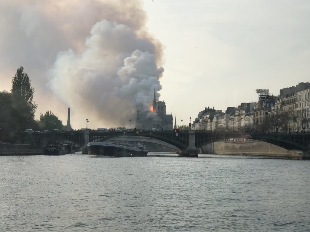 The Famed Notre-Dame Cathedral in Paris is on Fire https://t.co/pIuUmurTe4 #notredamefire https://t.co/gjkrWbcbGb