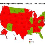 Over the first two months of 2019, the total number of single-family permits issued reached 116,189, a 6.2% decline from the 123,871 over the same time in 2018. Multifamily permits, however, are up 6.8% in the first two months of 2019. https://t.co/UlEJwGGQPF #HousingEconomics