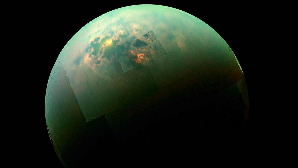 During @CassiniSaturn's last look at Titan, Saturn's largest moon, scientists gathered data that reveal what fills the moons northern lakes — and how surprisingly deep they are: go.nasa.gov/2IlTOBe