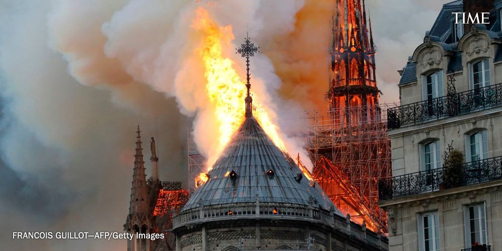 Huge fire breaks out in Paris' famous Notre Dame cathedral https://t.co/xWiJR73tpH https://t.co/MqdFHo4rMa