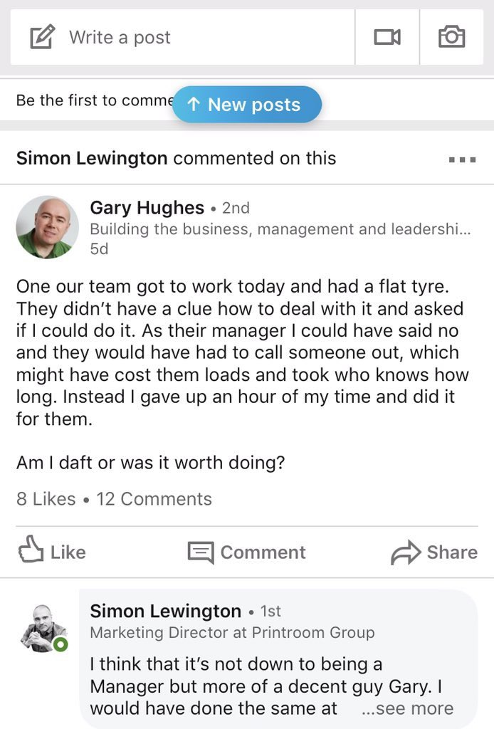 You're just being a decent guy Gary, don't stress it
